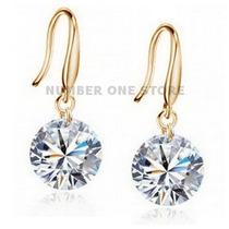 Brinco Prata 925 Folheado Ouro 18k Zircônia Cúbica Diamante