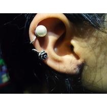Brinco Ear Cuff Com Perola Prata De Lei 925