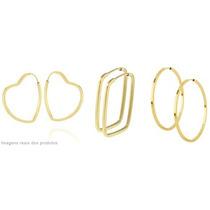 Monreale Argola De Ouro 18k Em 3 Formatos A Escolher