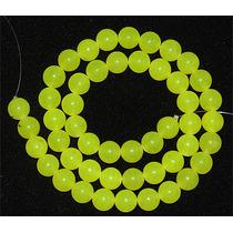 Jade Green Lemon Verde Natural Bola 8mm Teostone Colar 982