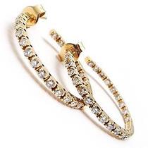 Lindo Vivar Par De Argola Em Ouro 18 Mais Diamantes