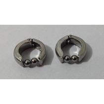 Par Brinco Masculino Pressão 5mm Prata Aço Inox 316l