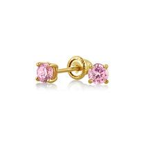 Bling Jewelry Brincos 14k Rosa Turmalina