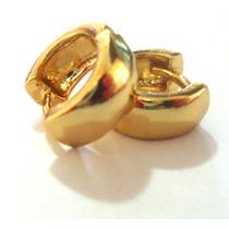 2 Brincos ( O Par) Argola Banho Ouro 18k 10mm Unissex