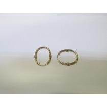 S2 Joias - Brincos Argolas Oval Em Ouro Amarelo 18k