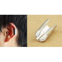 1 Brinco Piercing Falso De Pressão Argola Prata Ear Cuff