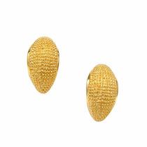 Brinco Concha Dourada - Banhado A Ouro