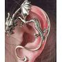 Ear Cuff Prata Dragão