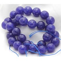 Jade Natural Azul Bola Esfera Facetada 12mm Teostone 2072