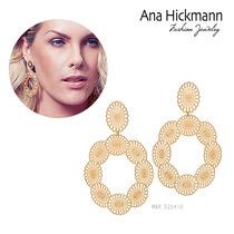 Brinco Ana Hickmann 13º Edição Rommanel Folheado.med 7,5cm