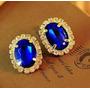 Brinco Verde Esmeralda Ouro 18k Banhado Nº1 Anéis