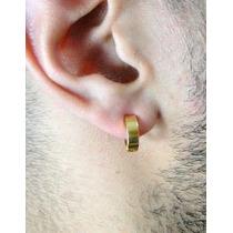 Lindo Par De Brinco Argola Aço Cirúrgico Inox Dourado 6mm