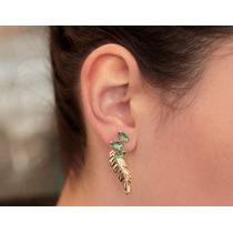 Brinco Ear Jacket Ana Hickmann 13º Edição Rommanel.med 3,7cm