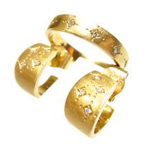 H.stern Conjunto Brincos E Anel Diamantes 18k 750!!