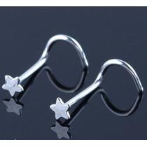 Piercing Nariz Nostril Estrela Aço Antialérgico Prata