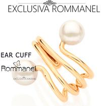 Rommanel Ear Cuff Espiral Com Perola Brinco Folh Ouro 525183
