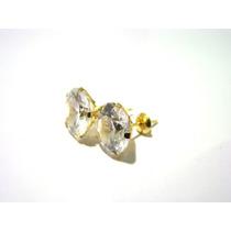 Maravilhoso Brinco Cálice De Zircônia 10mm Ouro 18k 035069