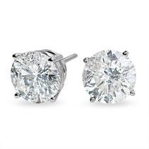 Brinco Solitário 1,00 Ct. Diamantes De Qualidade Ouro 18k.