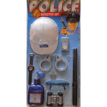 Kit Policial Fantasia Infantil Menino Criança Completo, 9077