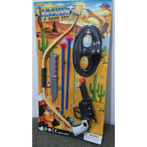 Brinquedo Kit Arma Arco Flecha Pistola