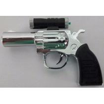 Pistola Brinquedo Choq. C/ Laser E Lanter. - Choque Inofens.