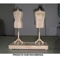 Busto Fem E Mas Feito De Palito De Picolé 30 Centímetros