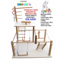 Playground Parquinho Duplex Maxi Natural Calopsitas + Brinde