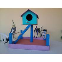 Parquinho Playground Para Pássaros E Calopsita Mansa
