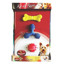 Kit Pet Brinquedos Para Cães De Raças Pequeno Porte