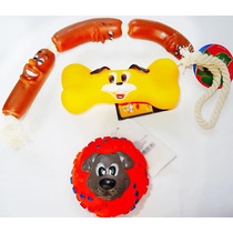 Acessório P/ Cães Mordedor C/ Apito Kit 3 Peças Frete Grátis