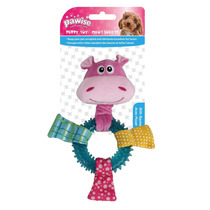 Brinquedo Cães Mordedor Borracha E Pelúcia Barulho Pet Shop
