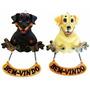 Enfeite De Porta Em Resina Cães Bem Vindo 15cm Pet Shop