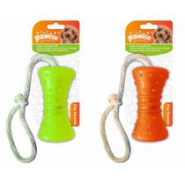 Brinquedo Mordedor Borracha Firme Com Corda Pet Shop Cores
