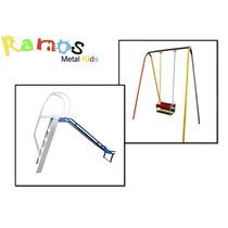 Conjunto Kids 01 - Brinquedo Infantil - Balanço - Escorrega