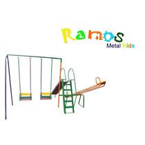 Playground Poupa Espaço - Balanço, Escorregador, Gangorra.