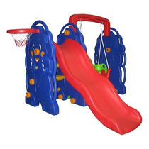 Playground Completo Escorregador Do Elefante Com Balanço.