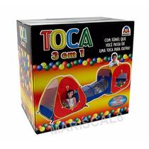 Toca Barraca 3em1 C/ Tunel 150 Bolinhas
