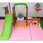 Playground Infantil 7x1 Balanco Escorrega Futebol Alvo Cesta