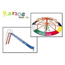 Conjunto Esperança 03 -brinquedo Infantil - Carrossel Parque