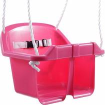 Cadeirinha Balanço Infantil Corda Plastico Arvore Rosa