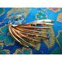 Refinado,lindo Broche Francês Vintage C/cristal Azul Déc.60