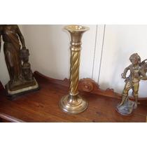 Castiçal Antigo Em Bronze Para Igreja E Altar