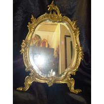 Fabuloso,lindo Espelho Em Bronze/cristal Bisoté,frança,40