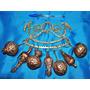Antiga Penca De Balangandans De Frutas De Cobre E Bronze