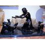 (gorpley) Lindíssima Escultura Petit Bronze Base Onix Negro