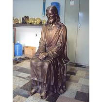 Escultura Em Bronze 80cm - Estatua-imagens Sacra.