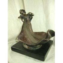 Escultura Em Bronze, Figura Feminina Assinada