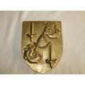 Brasão Placa Bronze Maciço Simbolisando O Impèrio Brasileiro