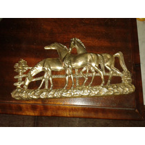 (only Wood) Estatuas De Cavalos Antiga Em Bronze