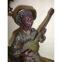 Linda Escultura Estatua Metal 32cm Aprox 3,5kg Bom Estado Ok